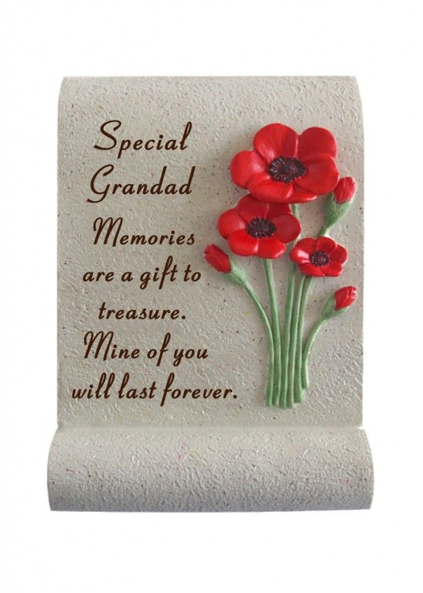 Grandad Poppy Memorial Scroll
