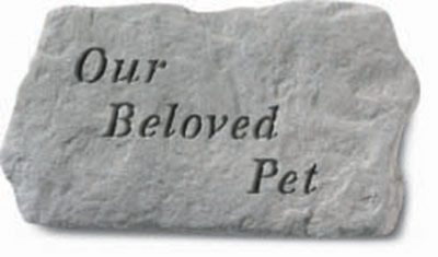 Our Beloved Pet - Memorial - 11 Inches x 6 Inches