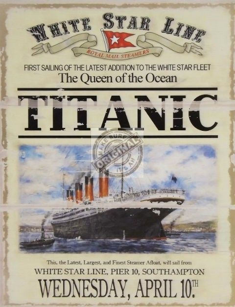 TITANIC Queen of the Ocean Plaque
